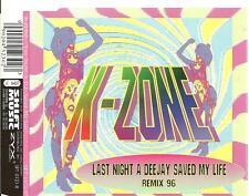 A7 cd single K- ZONE LAST NIGHT A DEEJAY SAVED MY LIFE remix 96