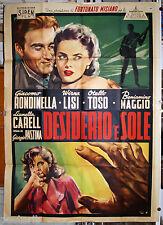 manifesto 4F originale DESIDERIO 'E SOLE Giacomo Rondinella Virna Lisi 1954