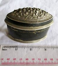 VERY ORNATE! Antique Copper & Silver Betelnut Betel Nut Lime Box 19th c.