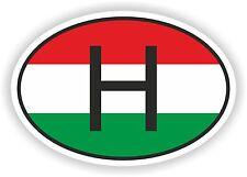 FLAG ovale con Ungheria H Codice paese Adesivo Auto Motocycle AUTO CAMION PORTATILE