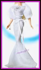 Cancer white evening gown fits silkstone royalty model muse Barbie