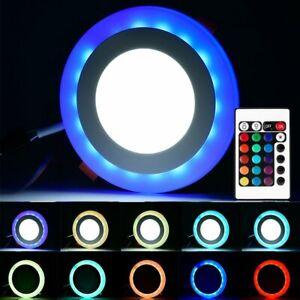 RGB LED Deckenlampe Dimmbar mit Fernbedienung Panel Einbaustrahler Deckenspot DE