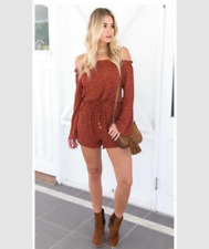 Romper Off Shoulder Red (13)
