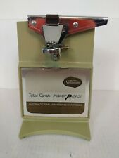 Sunbeam Automatic Can Opener Total Clean Power Pierce Vintage Green