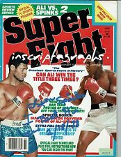 LEON SPINKS SIGNED MUHAMMAD ALI 1978 SUPER FIGHT MAGAZINE COA INSCRIPTAGRAPHS