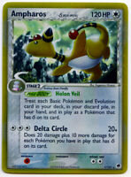 Ampharos 1/101 Holo Rare Delta Species EX Dragon Frontiers Pokemon Card NM