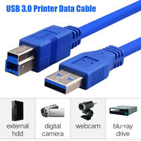 USB 3.0 Printer Cable Type A  To B Male Super Speed Sync Copper Data Cord Moda