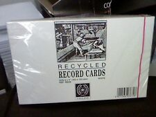 "100 RECORD CARDS WHITE RULED FEINT/HEADLINE-BOTH SIDES 8x5""(203x127mm)-SILVINE"