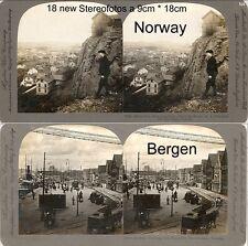 18 Stereoviews Norway Norwegen Christiania  Lot 4