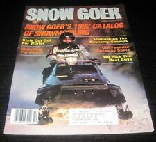 Vintage Snow Goer Magazine 1981 Polaris Yamaha Ski Doo