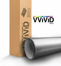 VViViD Brushed Silver Aluminum Vinyl car Wrap 5ft x 5ft decal 3mil heat-fuse