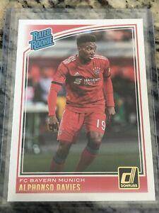 Alphonso Davies 2018-19 Donruss Soccer Bayern Munich Rated Rookie Card #176
