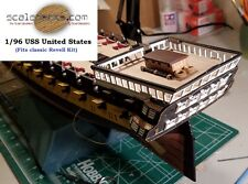 Wood Deck for 1/96 USS United States (fits Revell kit) by Scaledecks  [LCD-12]