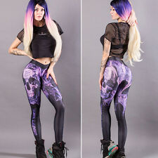Women Stretch Fitness Yoga Leggings Gym Sports Workout Skinny Pants Trousers US