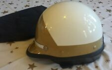 Vintage Police Bell Toptex Motorcycle Helmet GOLD/WHITEComplete California CHP M