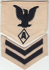"USN Navy Rate:  PO2 Specialist ""A"" - white, 2 piece"