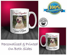 Dogo Argentino Personalised Ceramic Mug: Perfect Gift. (D233)