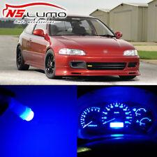 Blue LED Instrument Panel Light Bulb Kit Gauge Lamp for Honda Civic EG 1992-1995