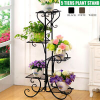 5 Tier Metal Plant Stand Flower Pot Holder Shelf Rack Display Planter Home Decor