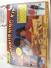 Vintage Nsi Master Woodburning Wood & Leather Projects Kit 7733 Kids Crafts Used