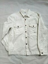 NEW DIESEL WHITE DISTRESSED RIPPED TORN COTTON DENIM JEAN JACKET XL