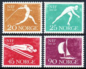 Norway 389-392, MLH. Sports Federation, cent. Javelin, Skater, Ski jumper, 1961