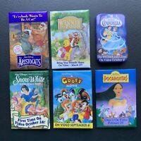 Lot of 6 Vintage Disney Movie Button Pins Advertising Promotional Pinbacks 90s