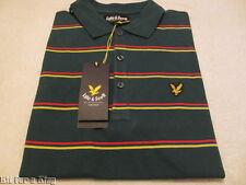 New BNWT Men's Lyle & Scott Striped Polo Shirt - Sz Small - £19.50 & Free Post