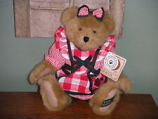"""Boyds Bears Plush 2002 ~10"""" Nellie T. Bearypatch~ Paw Dealer Exclusive"""
