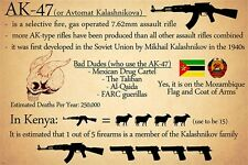 funny KALASHNIKOV AK-47 poster POLITICAL GUNS UNIQUE rare hot 24X36 NEW