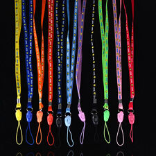 10X Nylon Neck Strap Lanyard Keychain Card Key Phone Holder UK