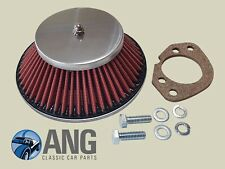 "ROVER P6 STAINLESS STEEL HS6 (1 3/4"") SU CONE AIR FILTER, GASKET & SCREWS"