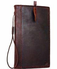 Genuine Dark Leather Case for Samsung Galaxy Note 3 Credit Card Slots Slim Davis