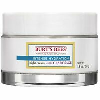 NEW Burts Bees Intense Hydration Night Cream 1.8 Ounce FREE SHIPPING