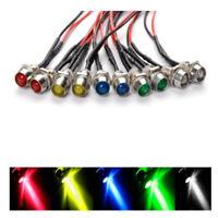 10x LED Indicator Light 5 Colors Lamp Pilot Dash Directional Car Motorcycles