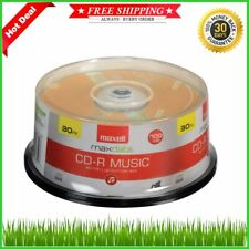 CD-R Blank Media 30 Pack Spindle Maxell Audio Music 32x 80 minute 700MB Player..