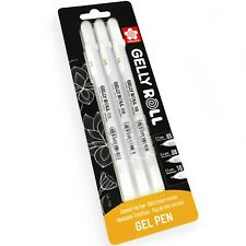 Sakura Gelly Roll Gel Pens - 05/08/10 - Bright White Ink - Blister Pack of 3