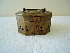 """Vtg Brass / Copper Octagon Shaped Trinket / Potpourri Box """" Great Collectible """""""