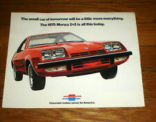 1975 Chevrolet Monza  2+2 Full Color Brochure 9 pgs