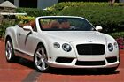 """2013 Continental GT GTC V8 GLACIER WHITE ONLY 36K MILES MADRONA WOOD CLEAN CARFAX 21"""" WHEELS"""