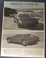 1978-1979 Maserati Merak SS Brochure Folder Excellent Original