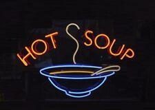 """New Hot Soup Shop Open Beer Bar Neon Light Sign 24""""x20"""""""