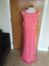 Ladies KALEIDOSCOPE Dress Size 22 Peach Long Maxi Chiffon Party Evening Cruise