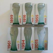Complete set of 6 Coca-Cola Glasses McDonalds 2015 Collection New