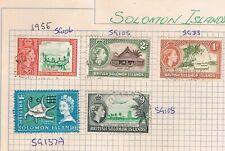 Deceased Estate - Solomon Islands - 1956 Qty 5 Stamps (SOL1)