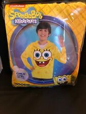 SPONGEBOB SQUAREPANTS CHILD L/XL HOODIE/ZIP UP SWEATSHIRT FLEECE HALLOWEEN