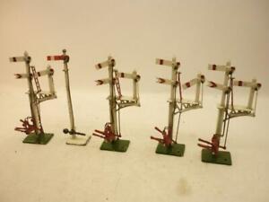 5 x CRESCENT 00 gauge ALL METAL SEMAPHORE SIGNALS,                             d