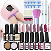 UR SUGAR Nail UV Gel Polish 54W Nail Dryer LED Lamp Stickers File Buffer Gel Kit