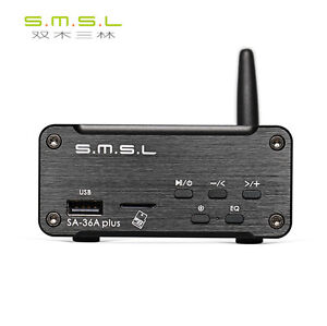 SMSL SA-36A PLUS Power Amplifier 30W*2 USB/Bluetooth/AUX/TF/U disk 24V Supply B