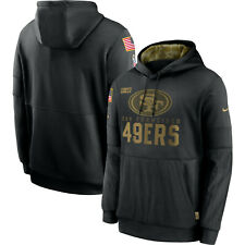 San Francisco 49ers 2020 Salute to Service Sideline Performance Pullover Hoodie